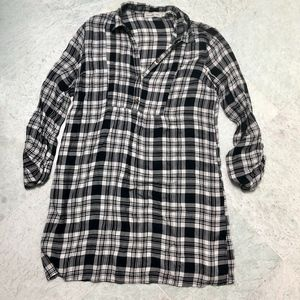 Abercrombie & Fitch Black/White Flannel Dress Sz S